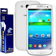 ArmorSuit MilitaryShield Samsung Galaxy S3 Screen + White Carbon Fiber Skin! New
