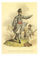 WELLINGTONS ARMY MILITARY UNIFORM PRINT ~ INFANTRY OFFICER IN MARCHING ORDER