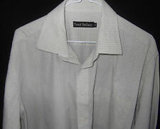 TRENT NATHAN Mens Long Sleeve Cuff Link Business Shirt Neck 41