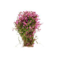 4pcs Mini Ground Cover Flower Plant Model for Dollhouse Scenery Layout Fuchsia
