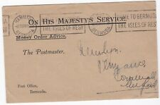 ! 1934 OHMS MONEY ORDER ADVICE GPO BERMUDA > POSTMASTER NEWLYN PENZANCE CORNWALL