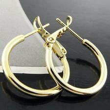 Hoop Yellow Gold Filled Religious Fashion Earrings