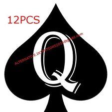 12pc Queen Of Spades QOS Temporary Tattoo Fetish BBC Hotwife cuckold cuck slut 6