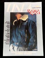 Vintage 1983 Linea Uomo July-Aug Issue Men's Fashion Magazine Versace, Armani