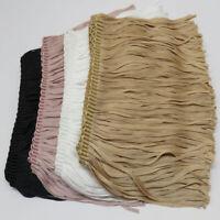 1M Lace Trim Fringe 15CM Long Flat Tassel Mercerized Thread Ribbon Garment Decor