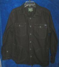 Woolrich Men's heavy cotton Jacket sz Large Button up 4-Pocket Black