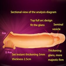 @New Flexible Silicone Spike-Sleeve Ring-Dildo-Spike-Condom Male Sexy Toy