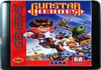 Gunstar Heroes (1993) 16 Bit Game Card For Sega Genesis / Mega Drive System
