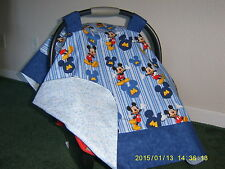 **MICKEY MOUSE** Handmade Baby Infant Car Seat Canopy-Cover