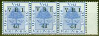 Orange Free State 1900 4d on 4d Ultramarine SG107 V.F MNH & LMM Strip of 3