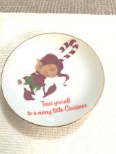 Vtg Lasting Christmas Treasure Elf 4� Plate 1978 Porcelain Japan American Greet
