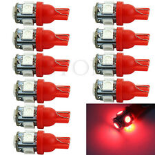 10Pcs T10 Car 5 LED 194 168 W5W Light XENON Red 5050 SMD Wedge Bulb Tail Lamp
