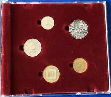 "Israel Official New Sheqel 5 Mint Coins 2000 Set ""Israel Salutes the ANA"" UNC"