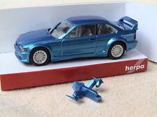 Herpa BMW M 3 E-36 Coupe 1992 GTR STW blaumet. 3406 Neuauflage OV