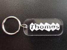 Personalised Name Keyring Lasercut and Engraved School Bag Tag
