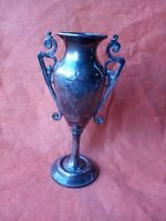 Antique Art Nouveau Rogers Smith Co. New Heaven, CT #14 Silverplate vase