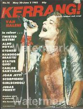 Kerrang Magazine No 16 1982 Van Halen Priest Twisted Sister Stones Joan Jett