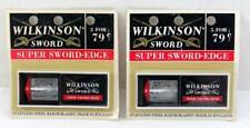 2 Packs Vintage NOS Wilkinson Sword Razor Blades ~ 10 Blades ~ Made in England
