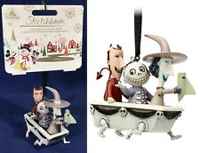 Lock Shock Barrel in Bathtub Disney Sketchbook Ornament Nightmare B4 Christmas