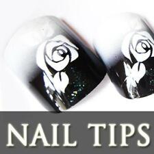12PCS 3D Pre-design French Acrylic False Nail Tips 3710