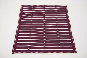 NWT Brunello Cucinelli Men's Dual Stripe + Dot Print Pocket Square  A201