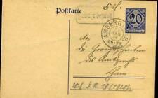 """406336) DR Dienst-Ganzsache aus Amberg mit Stpl. Gebühr bezahlt, hs. """"5 Pf."""""""