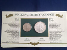 1941-1991 Walking Liberty Half Dollar American Silver Eagle Collection  E5379