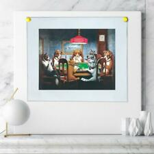 """8""""x12""""Dogs Playing Poker HD Canvas print Painting Home Decor Picture Wall art"""