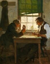 The Poker Players : N C Wyeth : Art Print Suitable for Framing