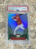 2019 Panini Chronicles Certified Green Mike Trout #1 PSA 10 GEM MINT LA Angels
