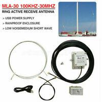 100kHz-30MHz MLA-30+ Plus Upgrade Loop Antenna Active Receiving Short Wave Radio