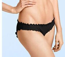 Extra Small VS Victoria's Secret Beach Sexy Ruffle Cheeky Bikini Bottom Blue XS