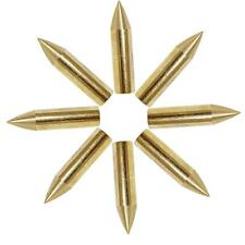 36pcs Hunting Archery Broadheads Golden Metal Arrow Head Target Practice Tips