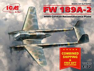 ICM 72292 - 1/72 FW 189A-2 German Reconnaissance Plane, WWII, scale model kit