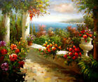 Seaside scenery Giclee Art Oil painting HD printed on canvas L2992