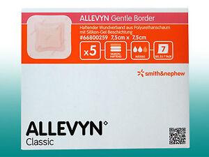 Allevyn Gentle Border 7,5 x 7,5cm  PZN 06087427 Silicon-Gel  Schaumverband