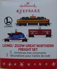 Hallmark 2016 Lionel 2533W Great Northern Freight Set ~ miniature set