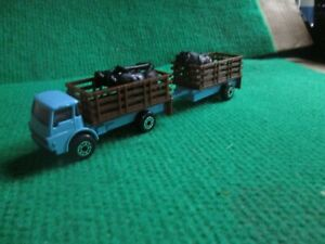 MATCHBOX DODGE CATTLE TRUCK & TRAILER WITH CATTLE (LOT H13)