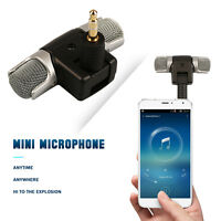 Mini Stereo Microphone Mic 3.5mm Jack For PC Laptop Notebook Musical Instruments