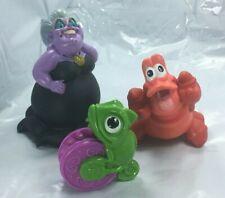 Disney The Little Mermaid Bath Toys Set of 2 Ursula Sebastian & Bonus Pascal Doh
