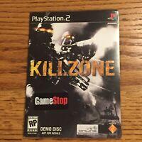 KillZone Demo Disc Collectible  [Sony Playstation 2, PS2] RARE Sealed GameStop
