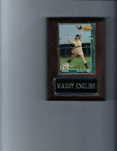 MADDY ENGLISH PLAQUE RACINE BELLES AAGPBL BASEBALL