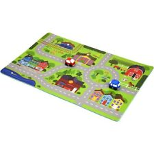 Spark Create Imagine City Playmat Covers 6 Square Feet with 2 cars 8 pieces