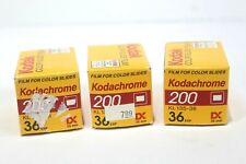 Three Rolls Of Kodak Kodachrome 200 Speed 36 Ex. Film Dated 03/98, 35mm