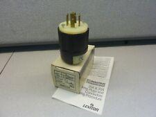 LEVITON 2411 MALE CORD PLUG L14-20P  20A 250V 3P 4 WIRE BLACK   (21019)