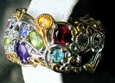 $326 EVINE NH MICHAEL VALITUTTI  STERLING  CARNIVAL  RING IN A LUCKY  SIZE 7