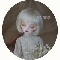 QQ-35A BJD Doll Synthetic Mohair Wig Light Gold Color 1/12;1/6;1/8;1/4;1/3 sizes