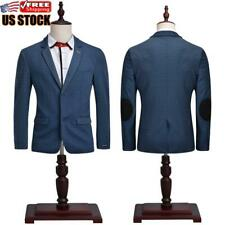 Mens Casual Long Sleeve Jacket Coat Slim Fit Business Formal Wedding Blazer Suit