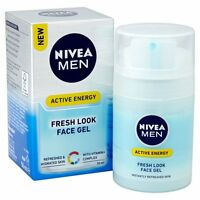 NIVEA MEN Active Energy Fresh Look Face Gel 50ml/Skin/Care/Vitamin/Complex/NEW