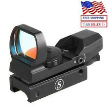Sniper Holographic Reflex Red and Green Dot Sight 4 Type Reticle for 20mm Rails